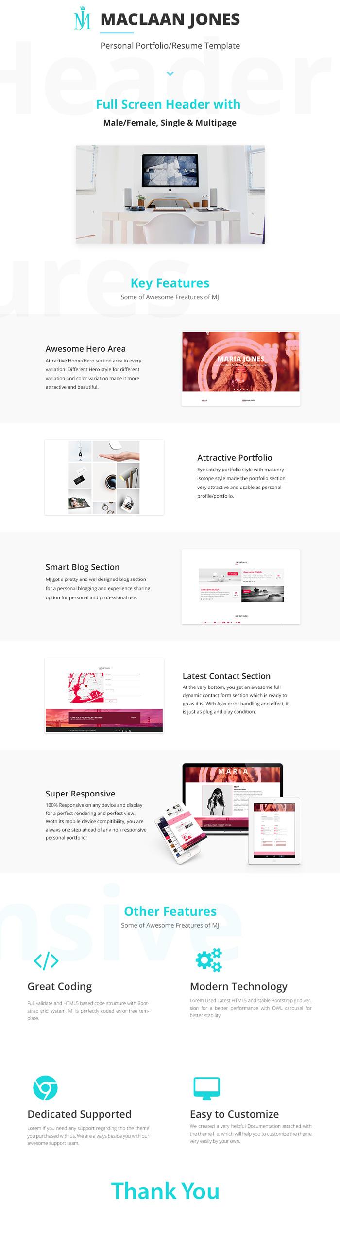 freshr - responsive resume    cv html5 template
